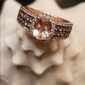 LeVian strawberry gold , morganite and diamond